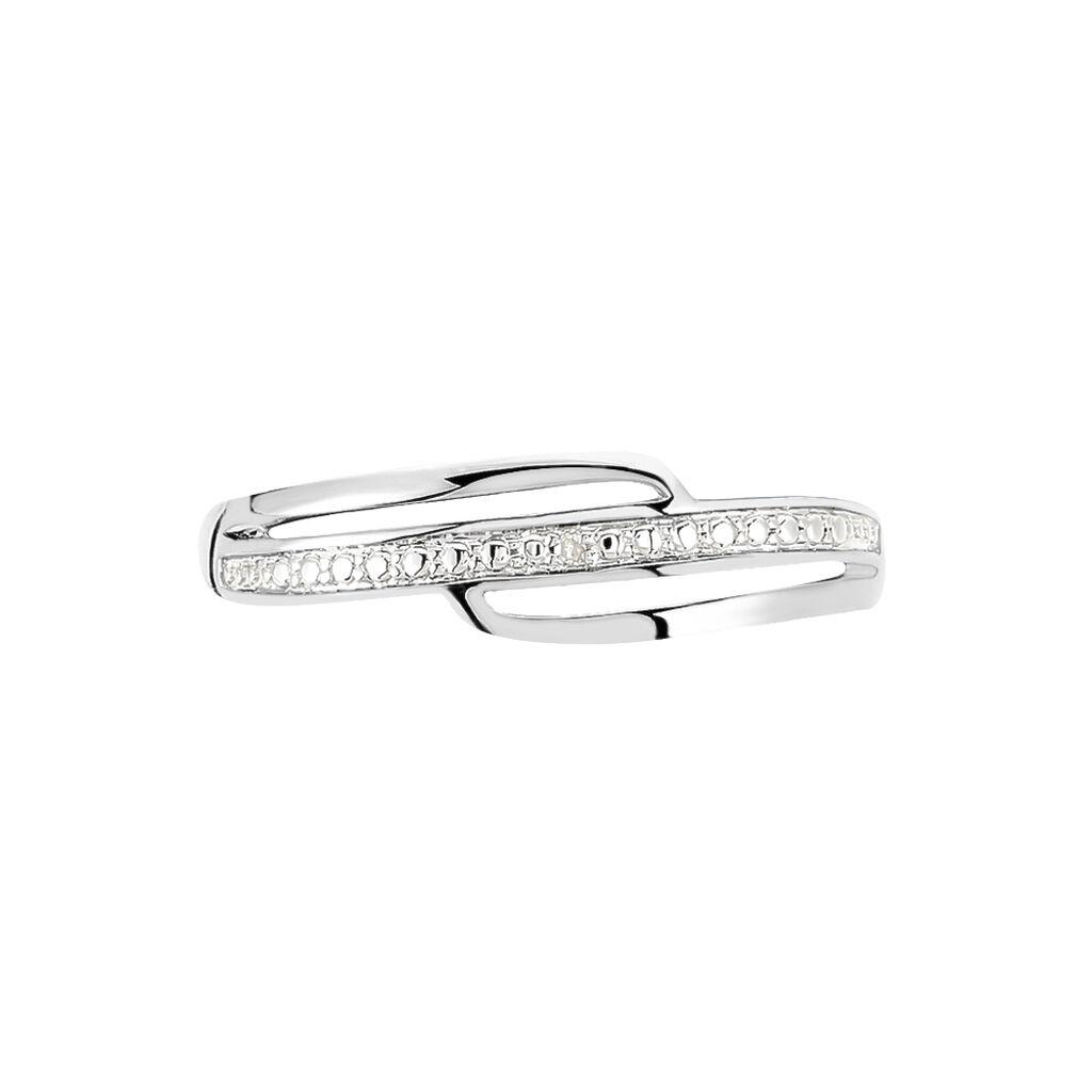 Bague Solena Or Blanc Diamant - Bagues avec pierre Femme | Histoire d'Or