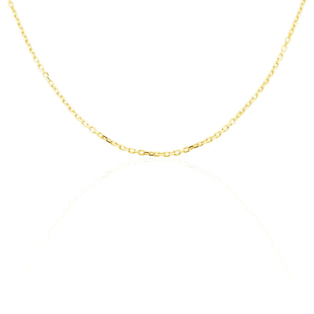 Chaîne Igoa Maille Forçat Diamantee Or Jaune - Chaines Famille   Histoire d'Or