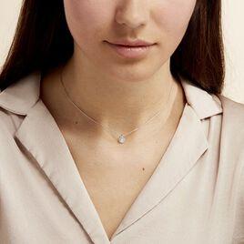 Collier Hildana Or Blanc Oxyde De Zirconium - Bijoux Femme | Histoire d'Or