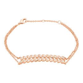 Bracelet Ophelie Plaque Or Rose Oxyde De Zirconium - Bracelets Plume Femme | Histoire d'Or