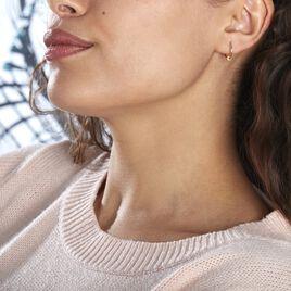 Créoles Ariel Boule Sablee Or Jaune - Boucles d'oreilles créoles Femme | Histoire d'Or