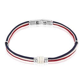 Bracelet Tyffany Acier Blanc - Bracelets cordon Homme | Histoire d'Or