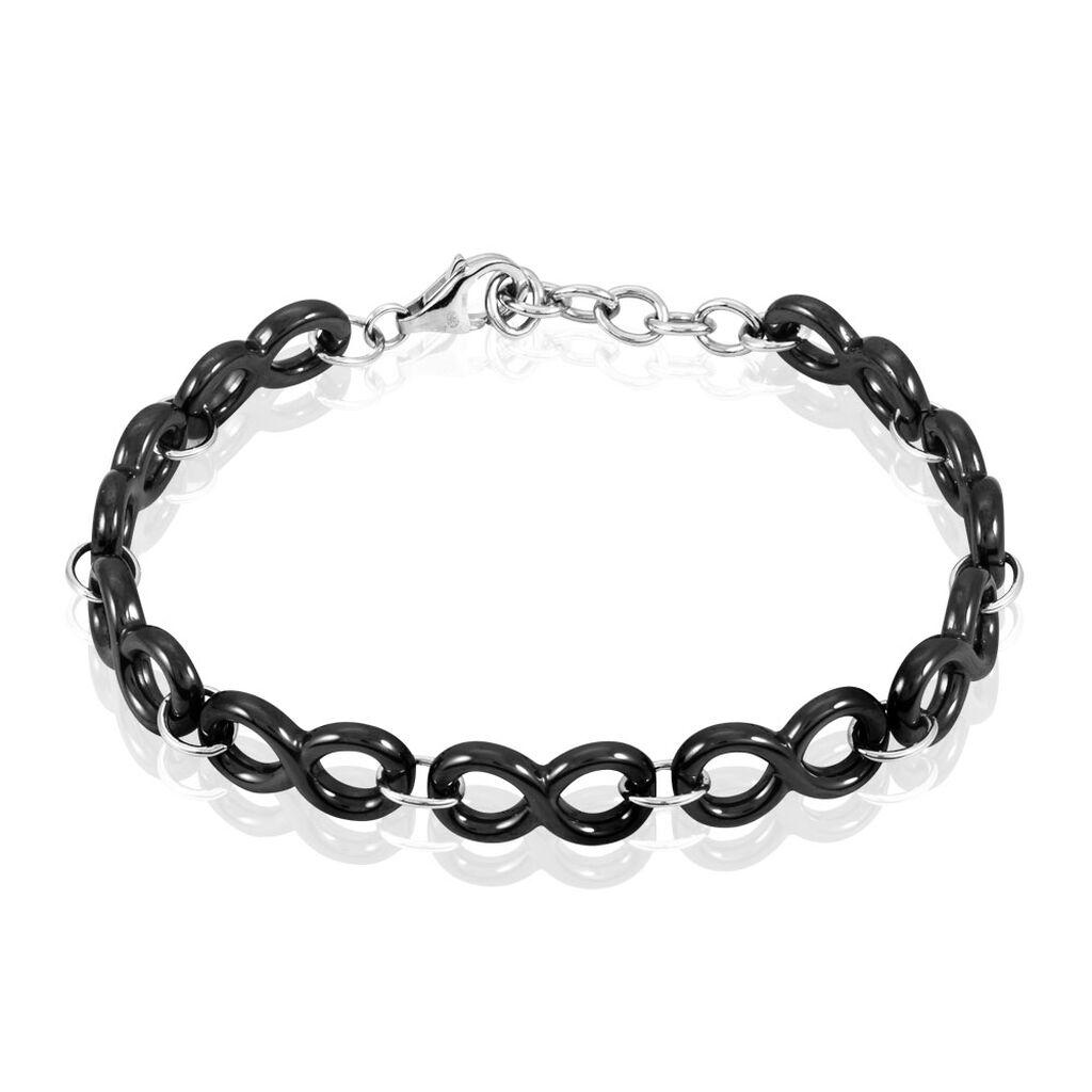 Bracelet Yvelyse Argent Blanc Céramique - Bracelets Infini Femme | Histoire d'Or