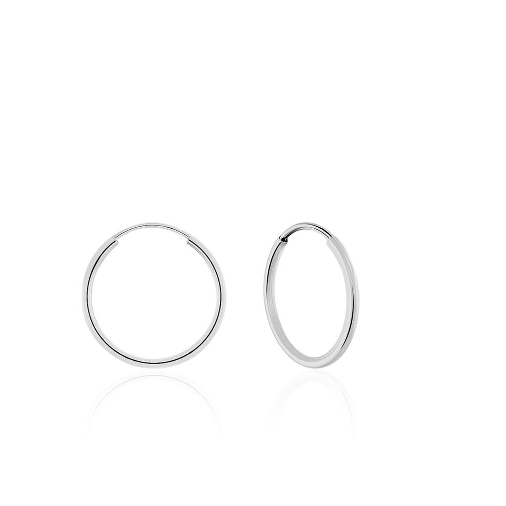 Créoles Dominae Flexible Rondes Or Blanc - Boucles d'oreilles créoles Femme | Histoire d'Or