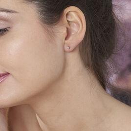 Boucles D'oreilles Or Jaune Victoria Puce - Clous d'oreilles Femme | Histoire d'Or