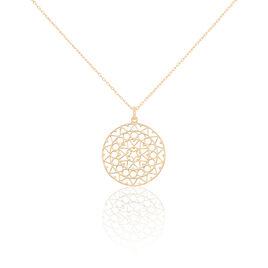 Collier Celso Plaque Or Jaune - Bijoux Femme   Histoire d'Or