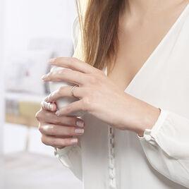 Bague Or Bicolore Batista Vague Diamants - Bagues avec pierre Femme | Histoire d'Or