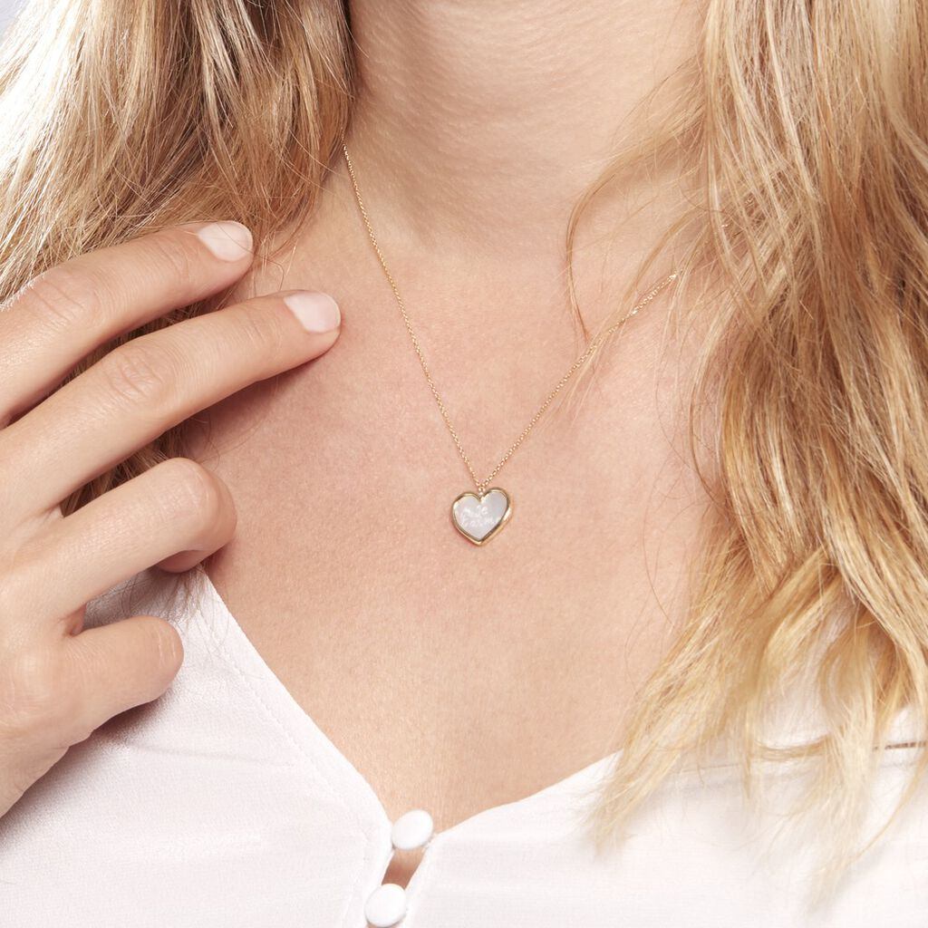 Collier Or Jaune Vallatina Nacre - Colliers Coeur Femme | Histoire d'Or