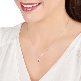 Collier Osanna Or Blanc Diamant - Colliers Infini Femme   Histoire d'Or