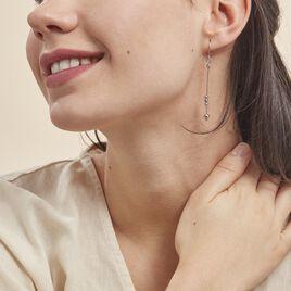 Boucles D'oreilles Pendantes Manou Argent Blanc - Boucles d'oreilles fantaisie Femme | Histoire d'Or