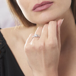 Bague Karin Argent Blanc Oxyde De Zirconium - Bagues solitaires Femme | Histoire d'Or