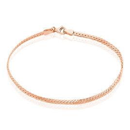Bracelet Izel Maille Anglaise Or Rose - Bracelets chaîne Femme | Histoire d'Or