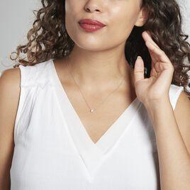 Collier Ponama Or Blanc Oxyde De Zirconium - Bijoux Femme   Histoire d'Or