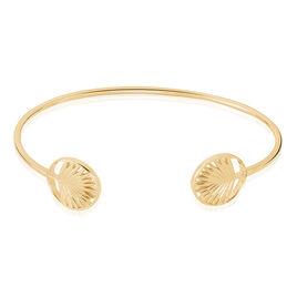 Bracelet Jonc Plamira Plaque Or Jaune - Bracelets Plume Femme | Histoire d'Or