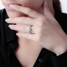 Bague Chou Or Blanc Diamant - Bagues avec pierre Femme   Histoire d'Or