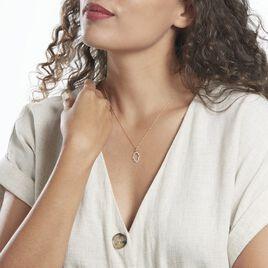Pendentif Darel Or Jaune Oxyde De Zirconium - Pendentifs Main de Fatma Femme | Histoire d'Or