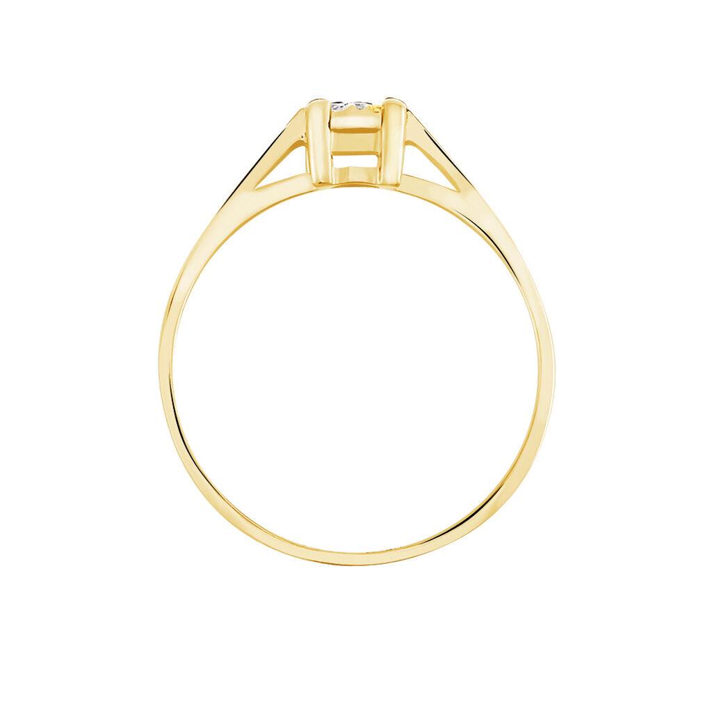 Bague Sandrine Or Jaune Diamant - Bagues avec pierre Femme | Histoire d'Or