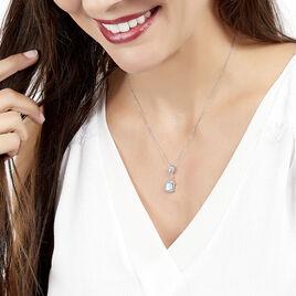 Collier Or Blanc Topaze Diamant - Bijoux Femme   Histoire d'Or
