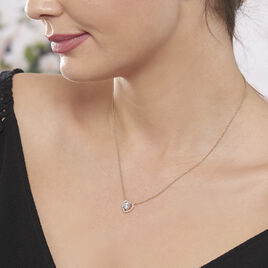 Collier Alais Plaque Or Jaune Oxyde De Zirconium - Colliers Coeur Femme | Histoire d'Or