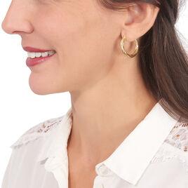 Créoles Yori Torsadees Or Jaune - Boucles d'oreilles créoles Femme | Histoire d'Or