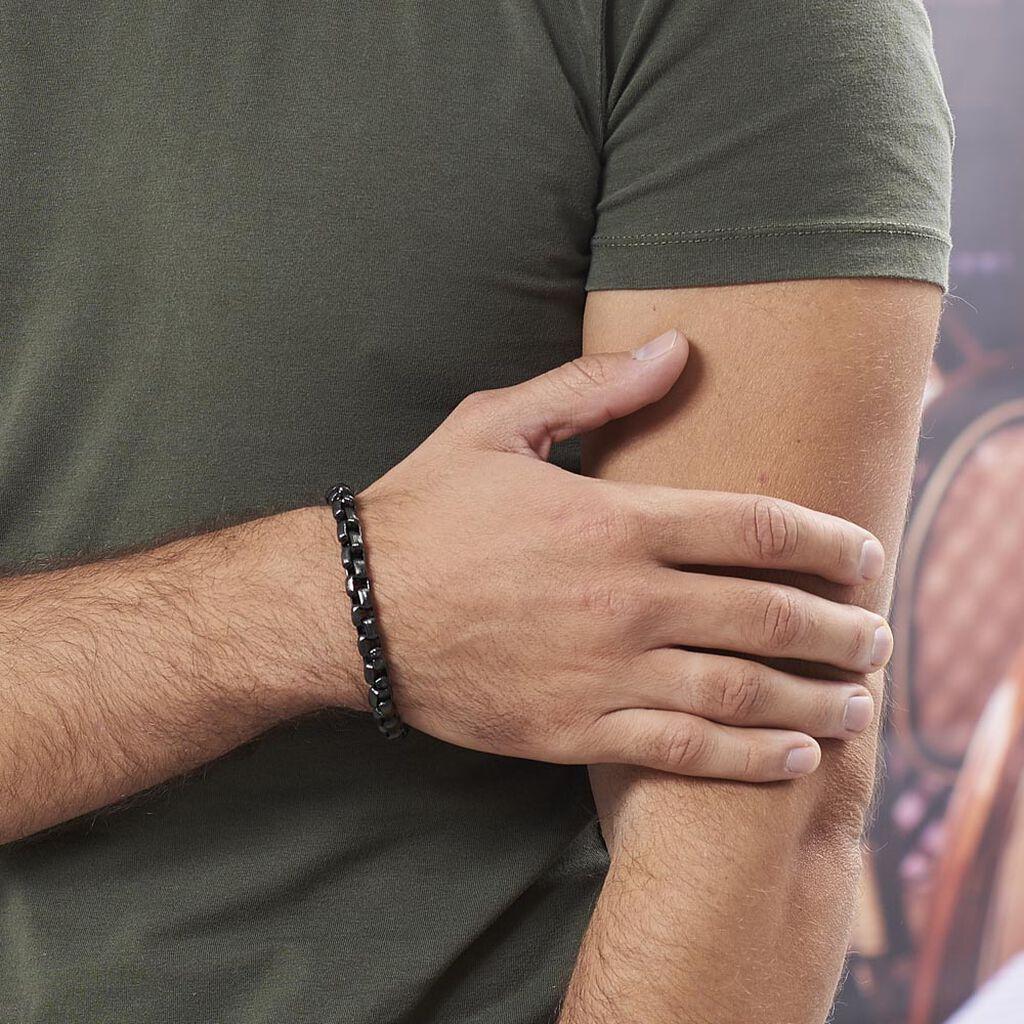 Bracelet Ethan Acier Noir - Bracelets fantaisie Homme | Histoire d'Or