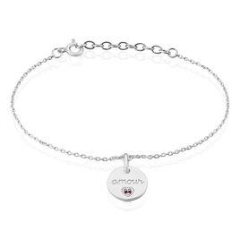 Bracelet Xanthie Argent Rhodie Oxyde - Bracelets Coeur Femme | Histoire d'Or