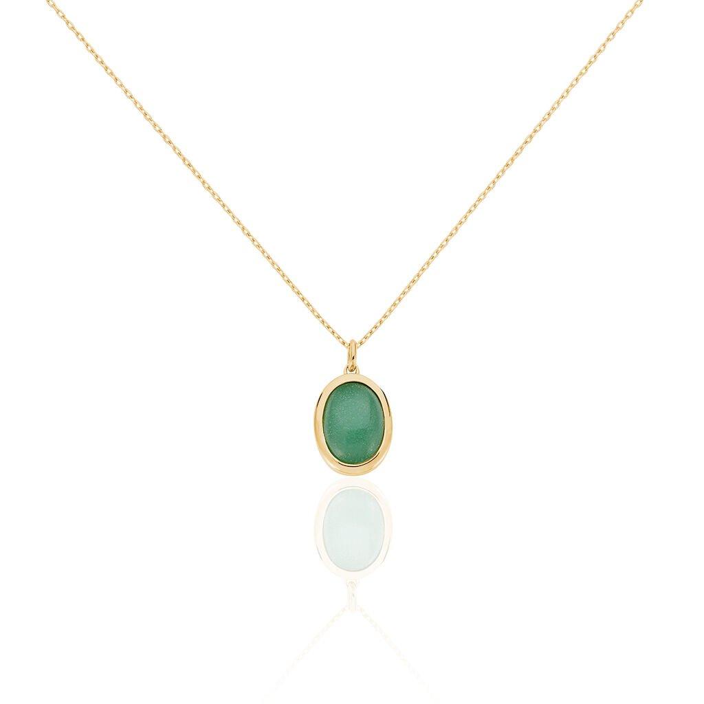 Collier Veina Plaque Or Jaune Aventurine - Bijoux Femme | Histoire d'Or
