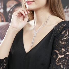 Collier Lydwine Argent Blanc - Bijoux Femme | Histoire d'Or