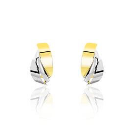 Créoles Michaelina Or Bicolore - Boucles d'oreilles créoles Femme | Histoire d'Or