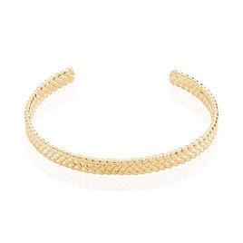 Bracelet Jonc Lilya Plaque Or Jaune - Bracelets joncs Femme | Histoire d'Or