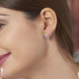 Boucles D'oreilles Puces Lorelei Argent Blanc Oxyde De Zirconium - Boucles d'oreilles fantaisie Femme | Histoire d'Or