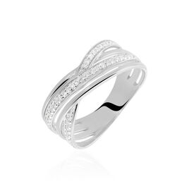 Bague Bague Or Blanc Diamant - Bagues avec pierre Femme | Histoire d'Or