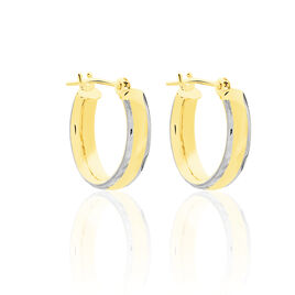 Créoles Abella Or Bicolore - Boucles d'oreilles créoles Femme | Histoire d'Or