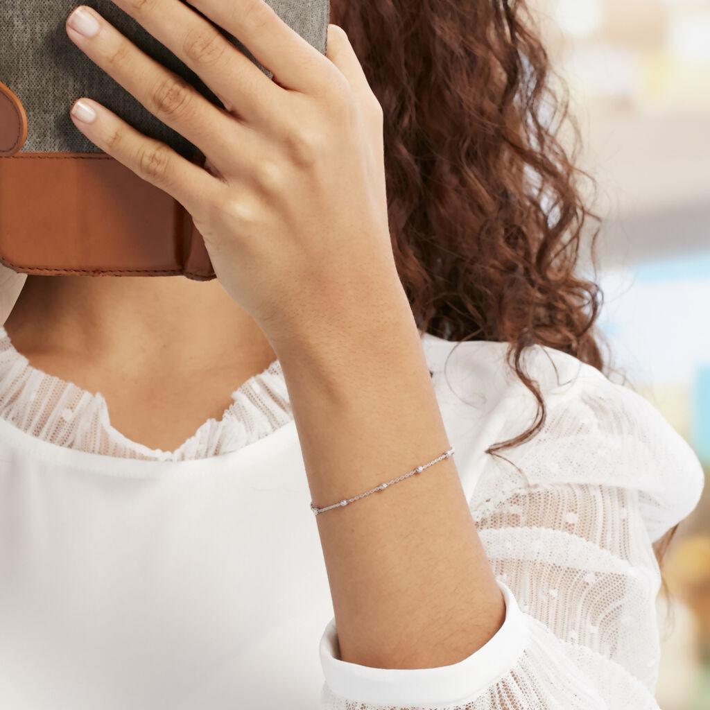 Bracelet Elea Argent Blanc - Bracelets fantaisie Femme   Histoire d'Or