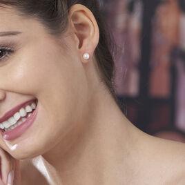 Boucles D'oreilles Puces Suki Or Jaune Perle De Culture - Clous d'oreilles Femme | Histoire d'Or