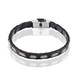 Bracelet Baptiste Acier Gris - Bracelets fantaisie Homme | Histoire d'Or