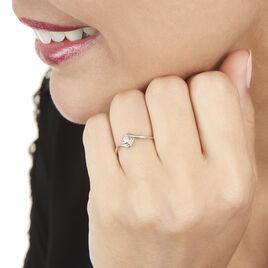 Bague Angelica Or Blanc Diamant - Bagues solitaires Femme   Histoire d'Or