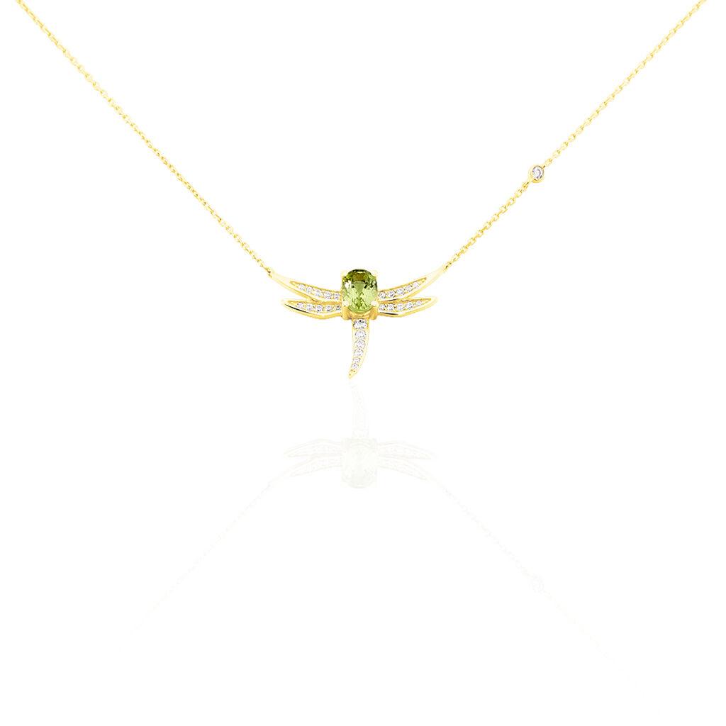 Collier Mael Or Jaune Péridot Et Oxyde De Zirconium - Bijoux Femme | Histoire d'Or