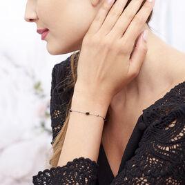 Bracelet Berna Argent Blanc Pierre De Synthese - Bracelets Papillon Femme | Histoire d'Or