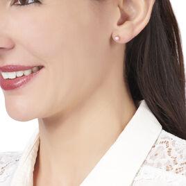 Boucles D'oreilles Puces Anisha Plaque Or Jaune Oxyde De Zirconium - Boucles d'Oreilles Coeur Femme | Histoire d'Or
