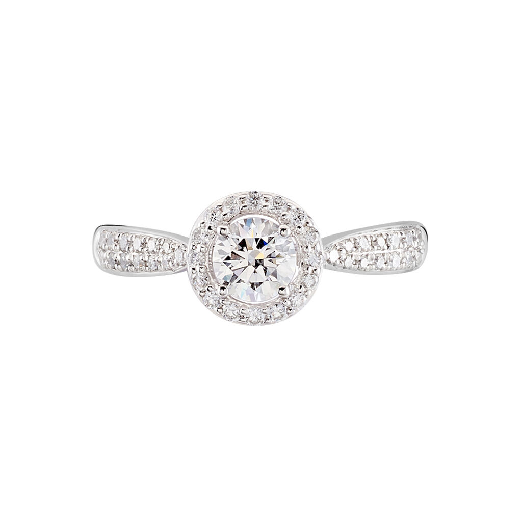 Bague Solitaire Bella Or Blanc Diamant Synthetique