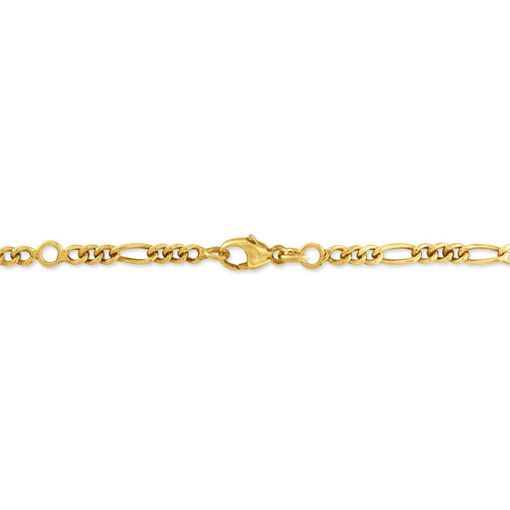 Bracelet Identité Fanelia Maille Marine Or Jaune - Bracelets Communion Enfant | Histoire d'Or