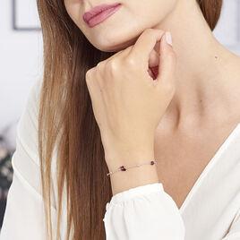 Bracelet Berna Argent Blanc Pierre De Synthese - Bracelets Papillon Femme   Histoire d'Or
