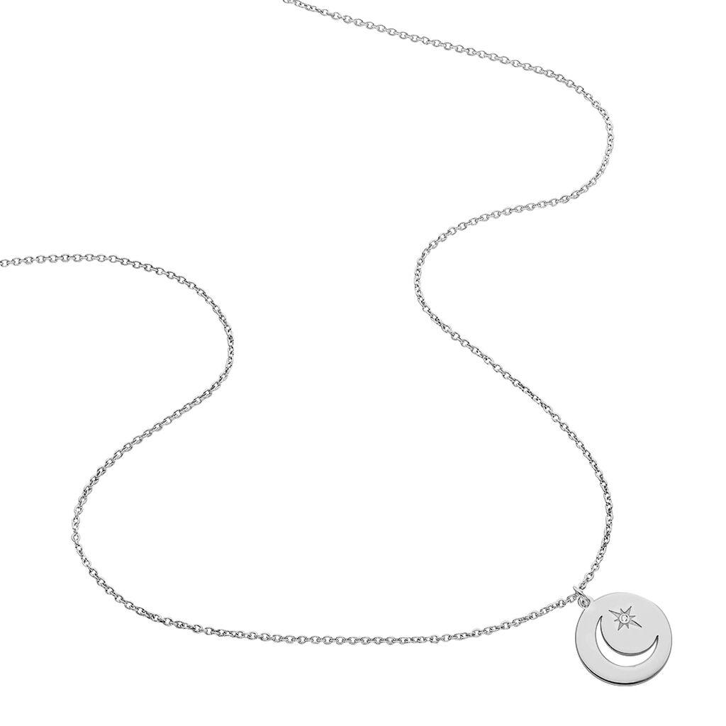 Collier Beyhan Argent Blanc - Colliers Etoile Femme   Histoire d'Or