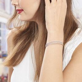 Bracelet Jonc Rachelle Argent Blanc - Bracelets joncs Femme | Histoire d'Or
