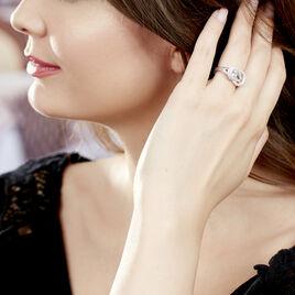Bague Laetizia Pretty Argent Blanc Oxyde De Zirconium - Bagues avec pierre Femme   Histoire d'Or