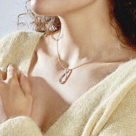 Collier Netta Argent Blanc Oxyde De Zirconium - Colliers fantaisie Femme   Histoire d'Or