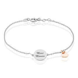 Bracelet Antonietta Argent Bicolore - Bracelets Coeur Femme | Histoire d'Or