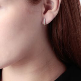 Créoles Jacoba Rondes Or Jaune Oxyde De Zirconium - Boucles d'oreilles créoles Femme | Histoire d'Or