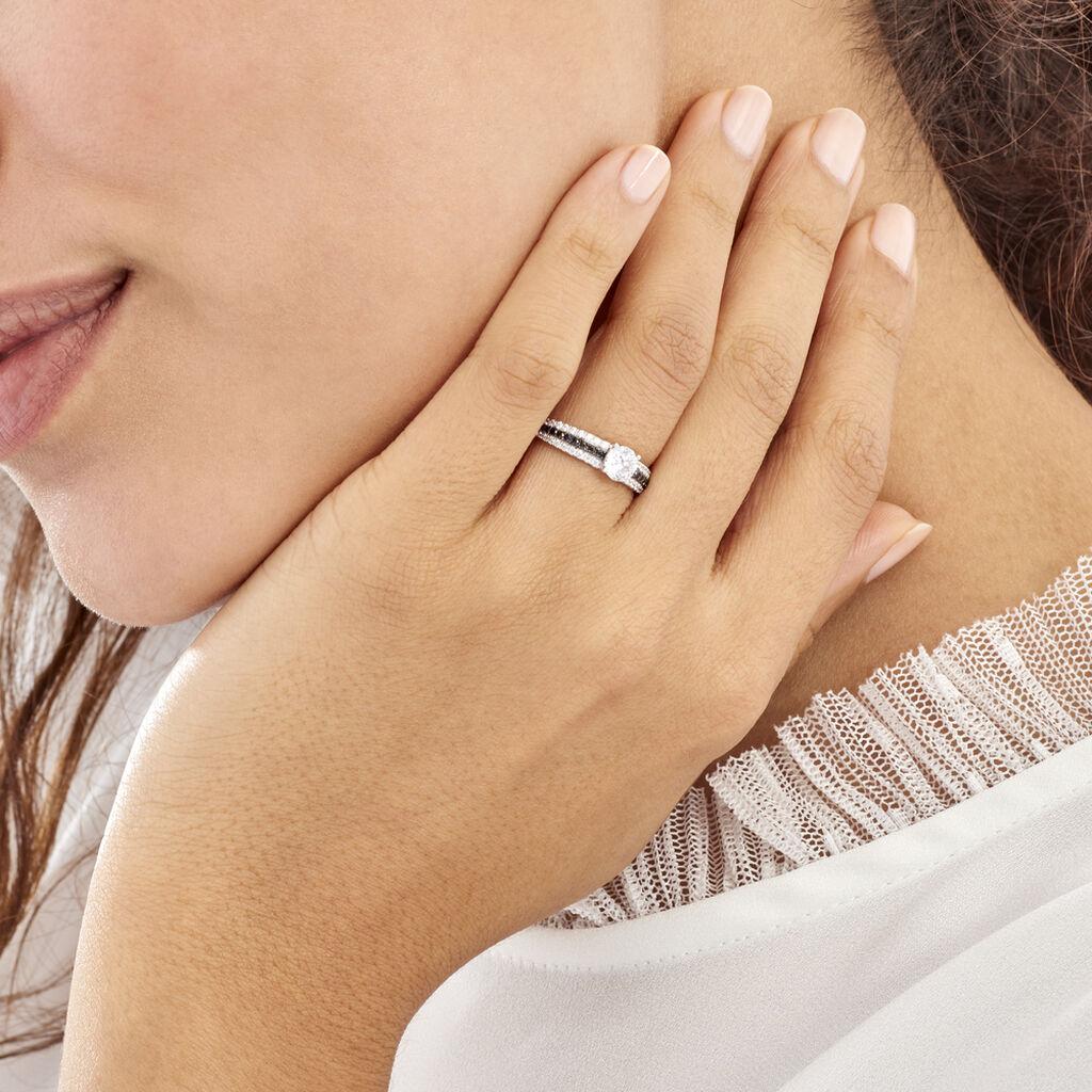 Bague Solitaire Katrina Or Blanc Oxyde De Zirconium - Bagues solitaires Femme | Histoire d'Or